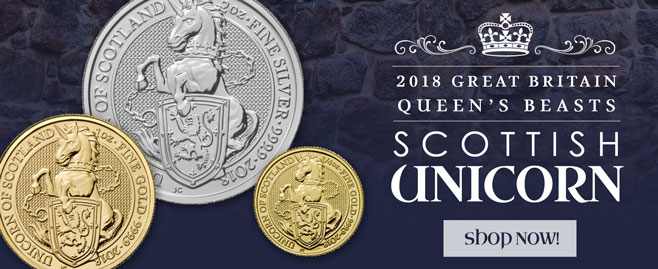 2018 Queen's Beast Gold and Silver Unicorns