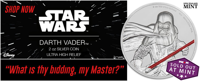 2017 Ultra High Relief Darth Vader coin