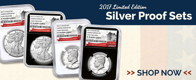 2017 Limited Edition Silver Proof Set Coins!