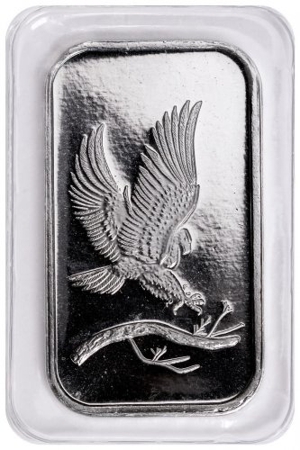 Silvertowne Mint Eagle Design 1 Oz Silver Bar Moderncoinmart