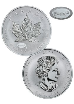 2015 Canada 1 Oz Silver Maple Leaf E Mc2 Privy Reverse
