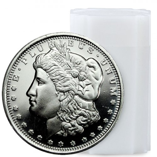 Roll Of 20 Highland Mint Morgan Dollar Design 1 2 Oz