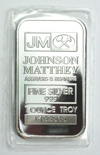 Johnson Matthey Logo 1 Oz Silver Bar Moderncoinmart