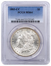 1883-CC Morgan Silver Dollar PCGS MS64