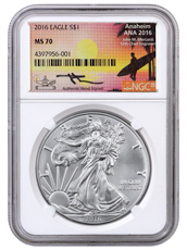2016 American Silver Eagle NGC MS70 (Exclusive Mercanti Signed ANA Label)