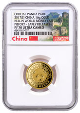 2017-(S) China China Mint Gold Show Panda 16g China Medal NGC PF70 UC ER Exclusive China Label