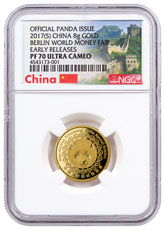 2017-(S) China China Mint Gold Show Panda 8 g China Medal NGC PF70 UC ER Exclusive China Label