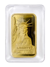 Credit Suisse Statue of Liberty 20 g Gold Bar With Assay