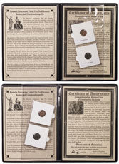 Roman Empire, Constantine I (AD 307-337) - Rome & Constantinople 2-Coin Set (Presentation Portfolio with COA)