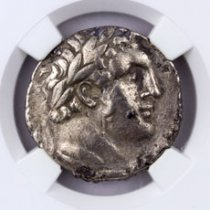 Phoenicia, Tyre Silver Shekel (126/5 BC-c.AD 67/8) - Money of the Bible Yr.86 (41/0 BC) - obv. Melkart/rv. Eagle on Prow NGC VF (Strike: 4/5, Surface: 3/5)