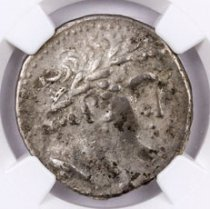 Phoenicia, Tyre Silver Shekel (126/5 BC-c.AD 67/8) - Money of the Bible Yr.96 (31/0 BC) - obv. Melkart/rv. Eagle on Prow NGC Ch. VF (Strike: 4/5, Surface: 3/5)
