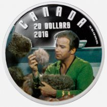 2016 Canada Star Trek - Trouble with Tribbles 1 oz Silver Colorized Proof $20 GEM Proof