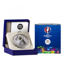 2016 France UEFA Euro 2016 - Goalkeeper Silver Gilt Proof €10 Coin NGC GEM Proof