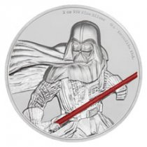 2017 Niue Star Wars - Darth Vader Ultra High Relief 2 oz Silver Colorized Proof $5 Coin GEM Proof OGP