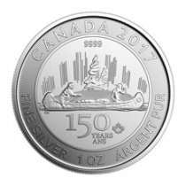 2017 Canada Celebrating Canada's 150th - Voyageur Special Edition 1 oz Silver $5 Coin GEM BU