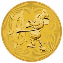 2017 Niue Disney Classics - Mickey Mouse Steamboat Willie 1 oz Gold $250 Coin GEM BU