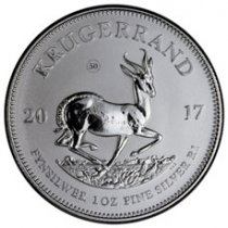 2017 South Africa 1 oz Silver Krugerrand Premium Uncirculated Coin GEM Premium Uncirculated