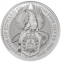2018 Great Britain 10 oz Silver Queen's Beasts - The Griffin £10 Coin GEM BU In Original Mint Capsule