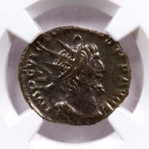 Romano-Gallic Empire, Billon Double Denarius of Victorinus (AD 269-271) NGC Ch. XF