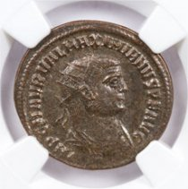 Roman Empire, Billon Aurelianianus of Maximian (AD 286-310) NGC Ch. XF