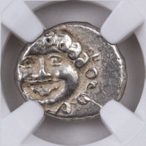 Greek Colony of Apollonia Pontika, Silver Drachm (Late 5th-4th Centuries BC) - obv. Gorgon/rv. Anchor with