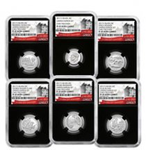 6-Coin Set - 2017-S U.S. Limited Edition Silver Proof Coins Set NGC PF69 UC ER Black Core Holder Exclusive U.S. Mint 225th Anniversary Label