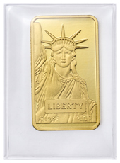 Credit Suisse Statue of Liberty 10 g Gold Bar In Assay