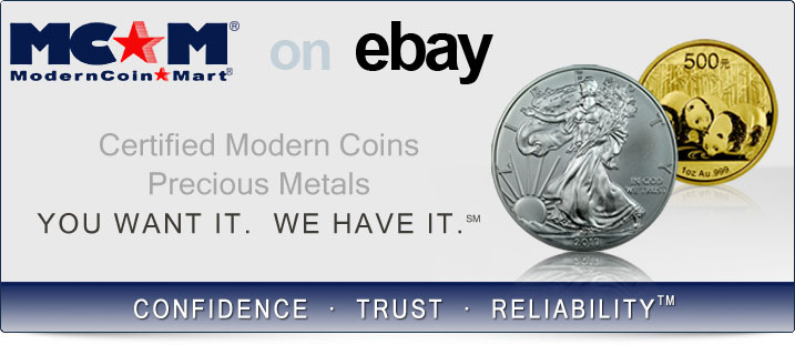 Certified Modern Coins, Precious Metals
