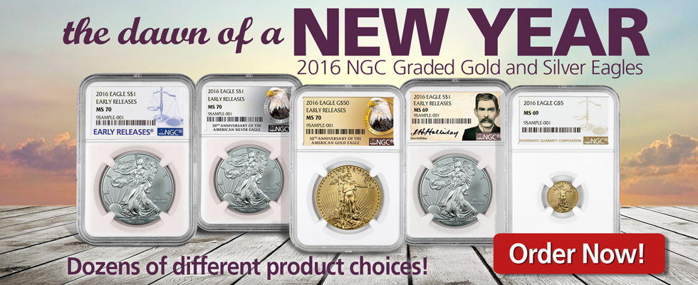 2016 Eagles - Gold and Silver - Order Now!