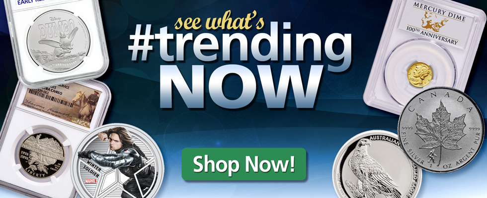 See what's trending NOW at ModernCoinMart!