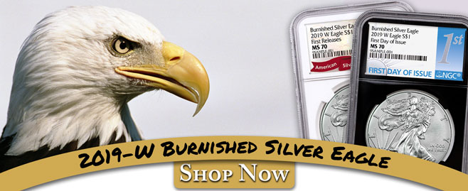2019-W Burnished Silver Eagles