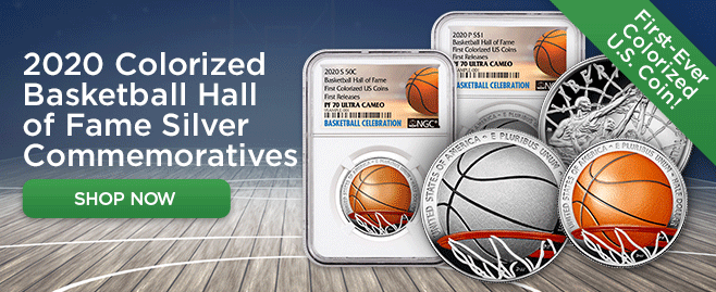 2020S Basketball Hall Fame Half Dollar Clad Colorized NGC PF70UC Tip Off Release