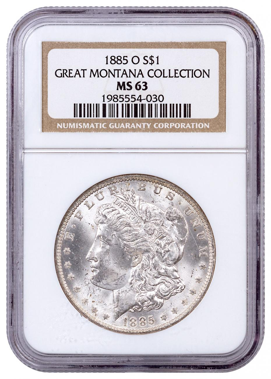 1885-O Morgan Silver Dollar From the Great Montana Collection NGC MS63 Toned CPCR 030