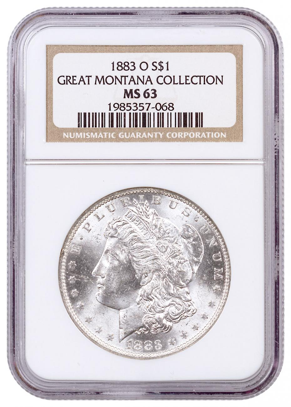 1883-O Morgan Silver Dollar From the Great Montana Collection NGC MS63 Toned CPCR 068