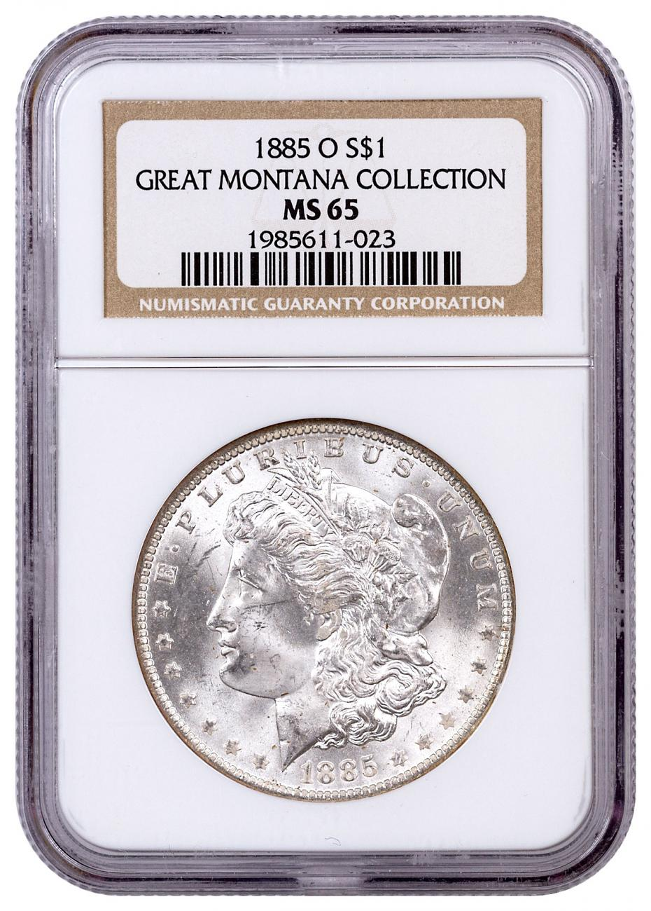 1885-O Morgan Silver Dollar From the Great Montana Collection NGC MS65 Toned CPCR 023