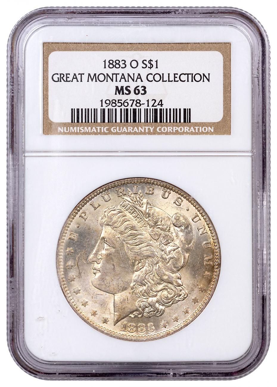1883-O Morgan Silver Dollar From the Great Montana Collection NGC MS63 Toned CPCR 124