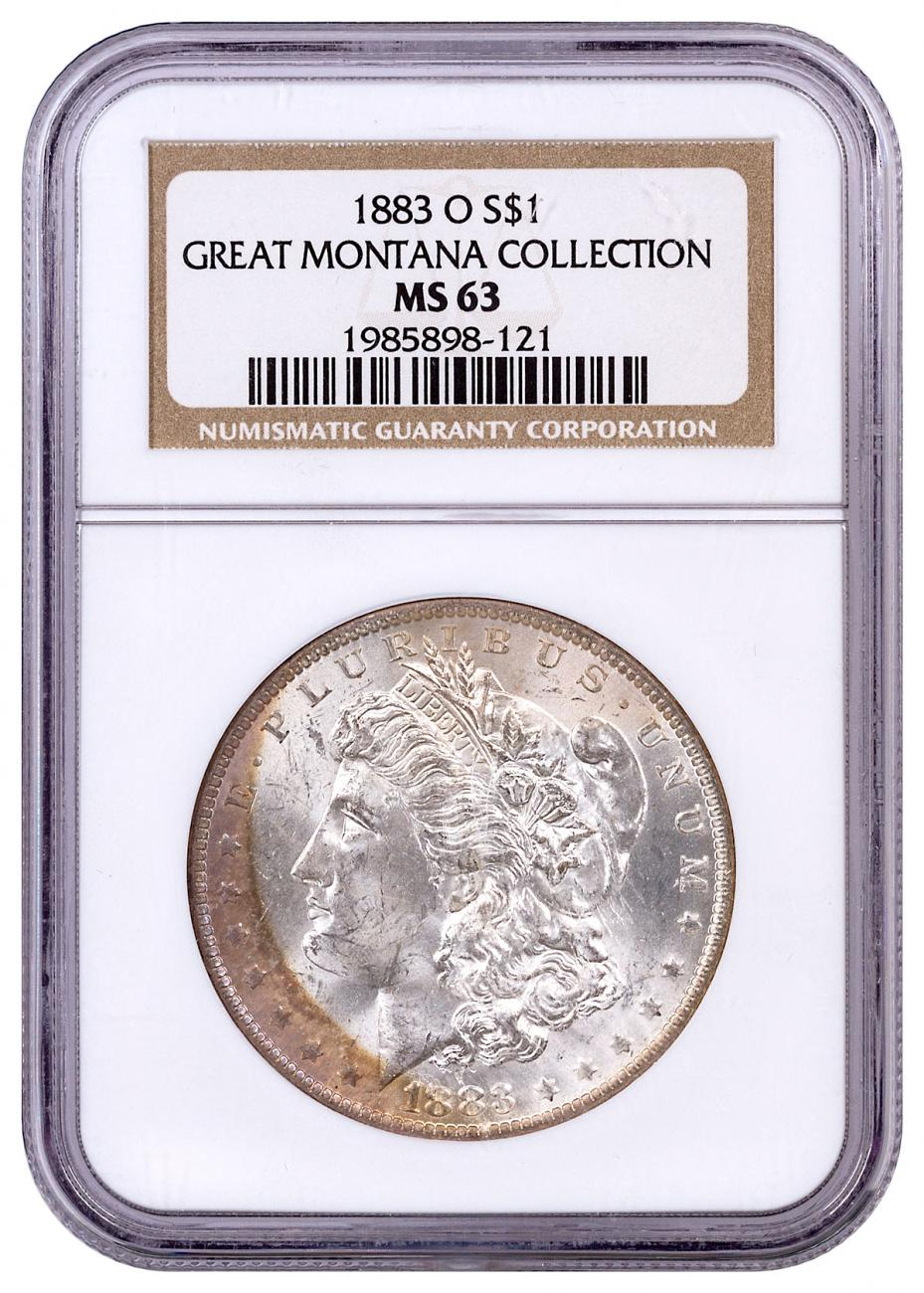 1883-O Morgan Silver Dollar From the Great Montana Collection NGC MS63 Toned CPCR 121
