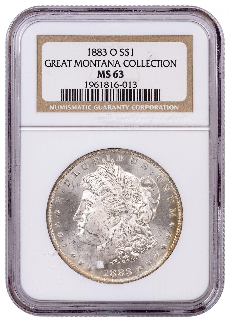 1883-O Morgan Silver Dollar From the Great Montana Collection NGC MS63 Toned CPCR 013