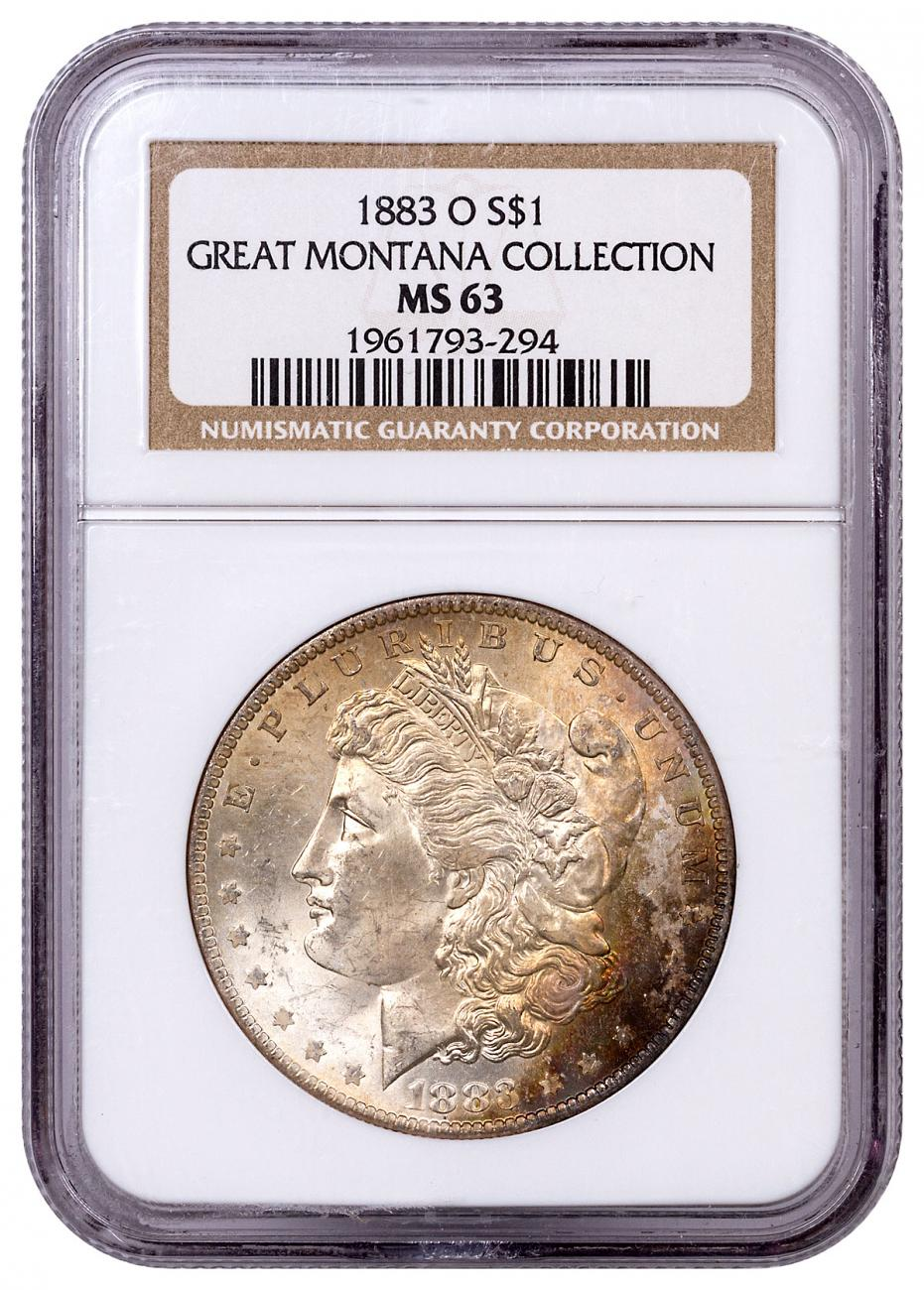 1883-O Morgan Silver Dollar From the Great Montana Collection NGC MS63 Toned CPCR 3294