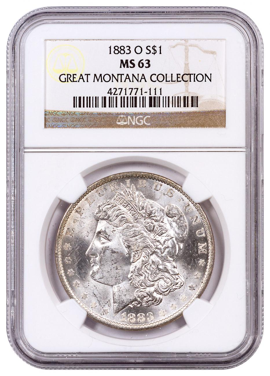 1883-O Morgan Silver Dollar From the Great Montana Collection NGC MS63 Toned CPCR 111