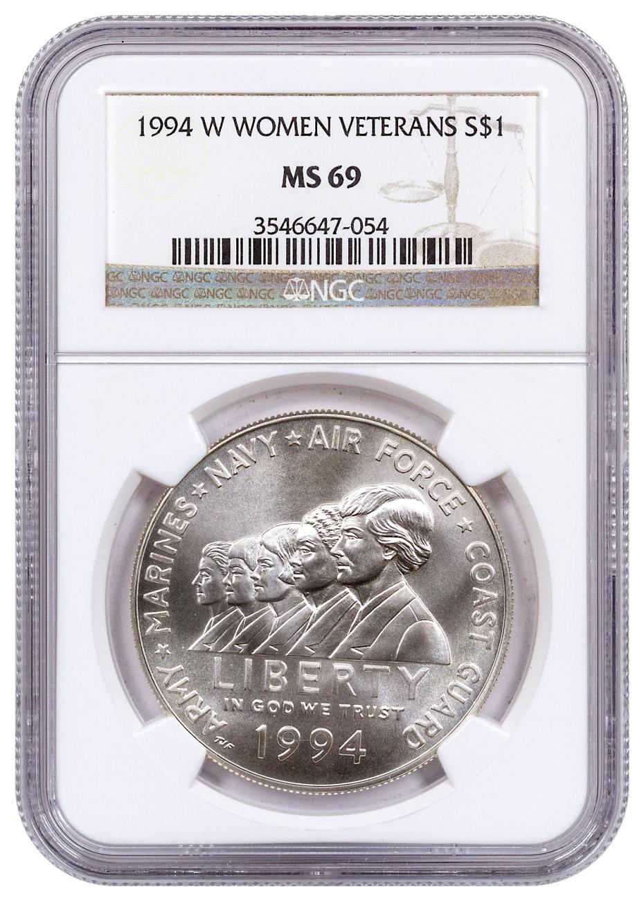 1994-W Women in the Armed Forces Commemorative Silver Dollar NGC MS69
