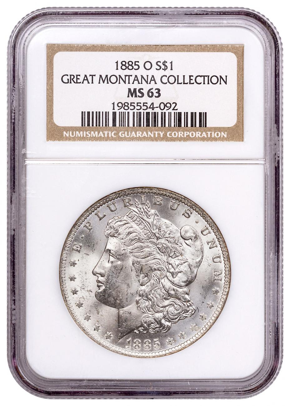 1885-O Morgan Silver Dollar From the Great Montana Collection NGC MS63 Toned CPCR 4092