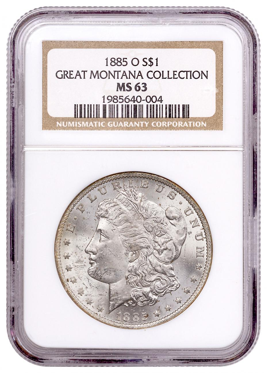 1885-O Morgan Silver Dollar From the Great Montana Collection NGC MS63 Toned CPCR 0004