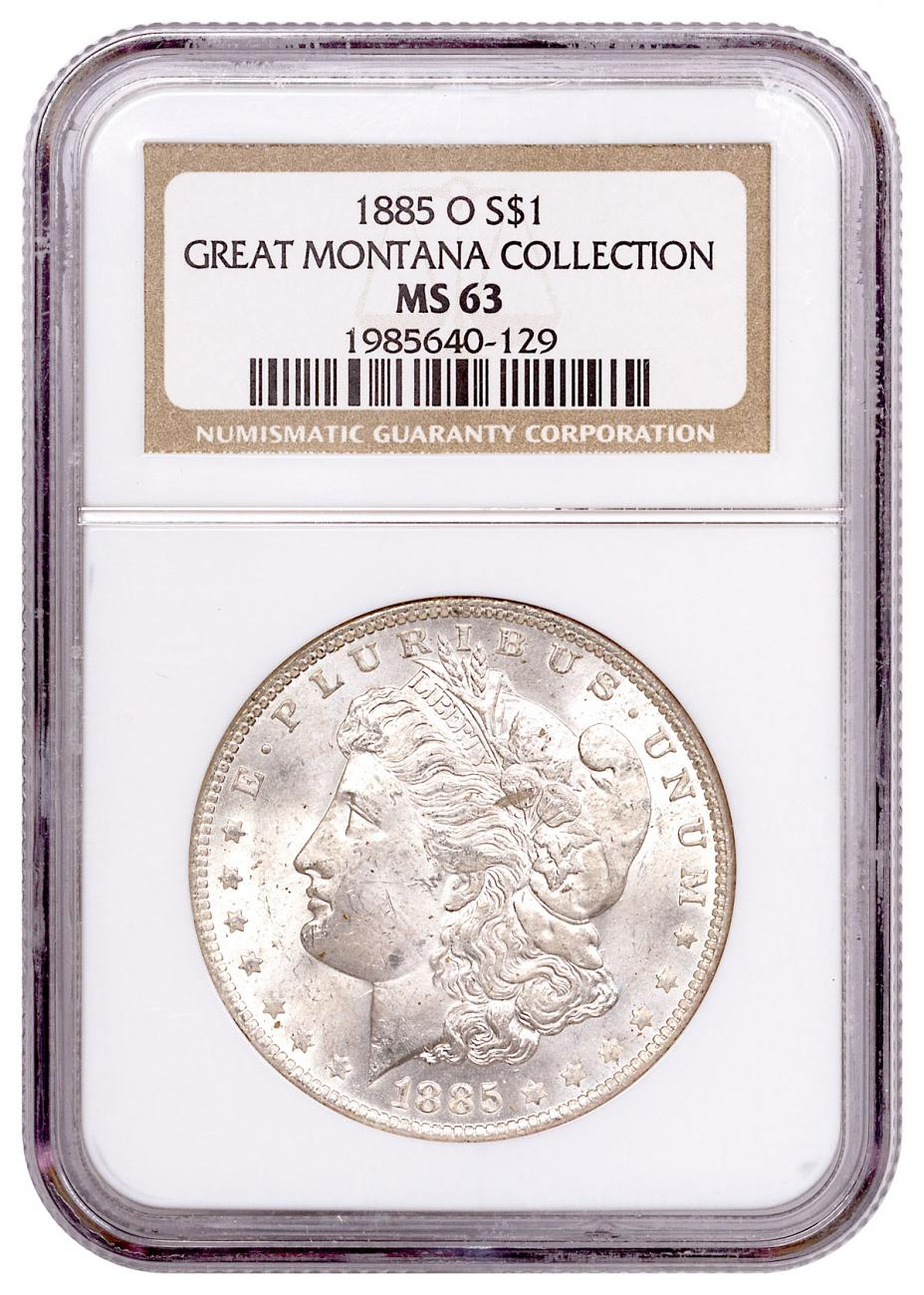 1885-O Silver Morgan Dollar From the Great Montana Collection NGC MS63 Toned CPCR 0129