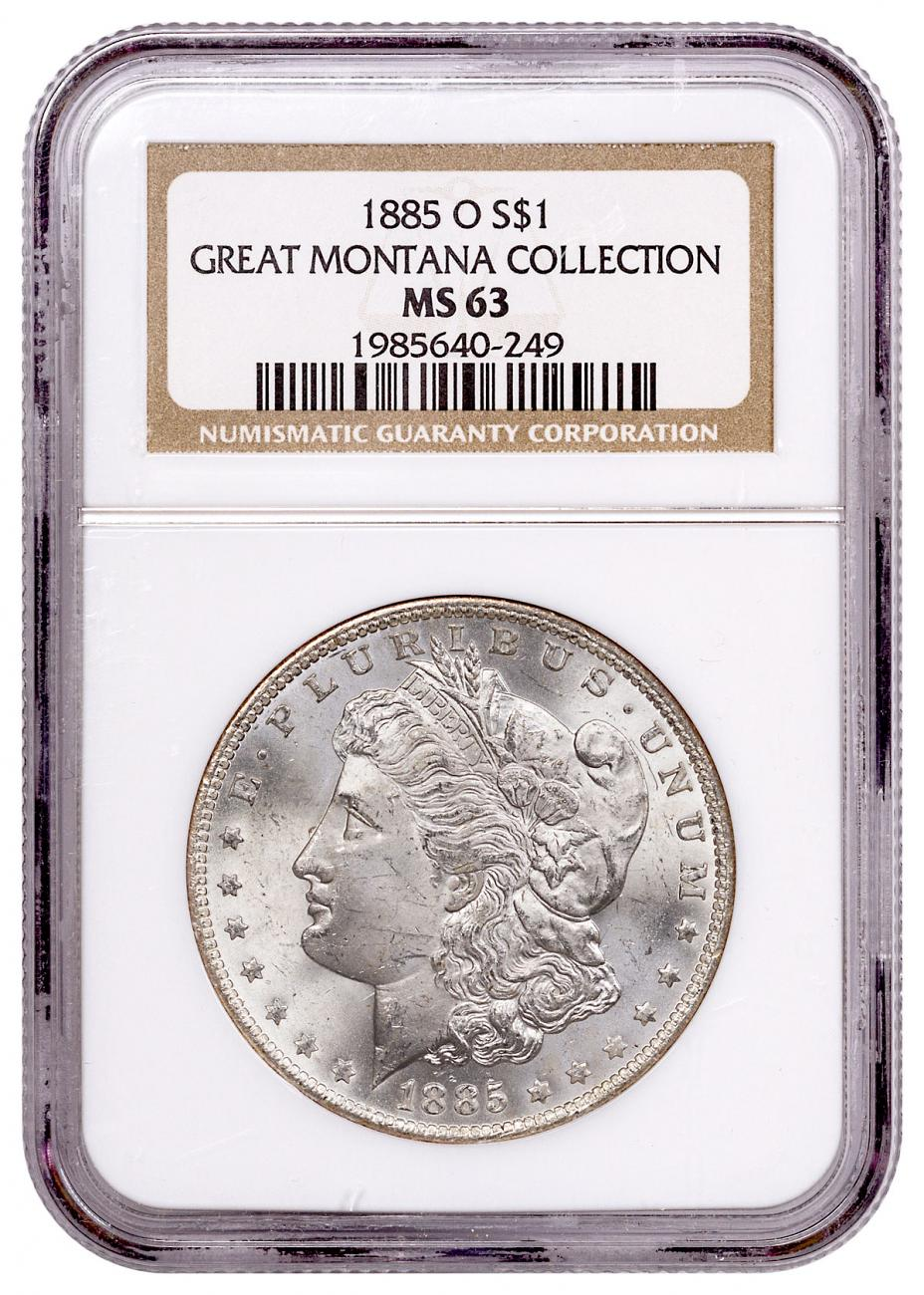 1885-O Morgan Silver Dollar From the Great Montana Collection NGC MS63 Toned CPCR 0249
