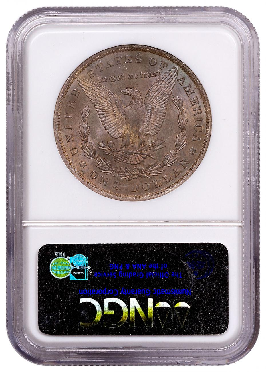1885-O Silver Morgan Dollar From the Great Montana Collection NGC MS63 Toned CPCR 2128