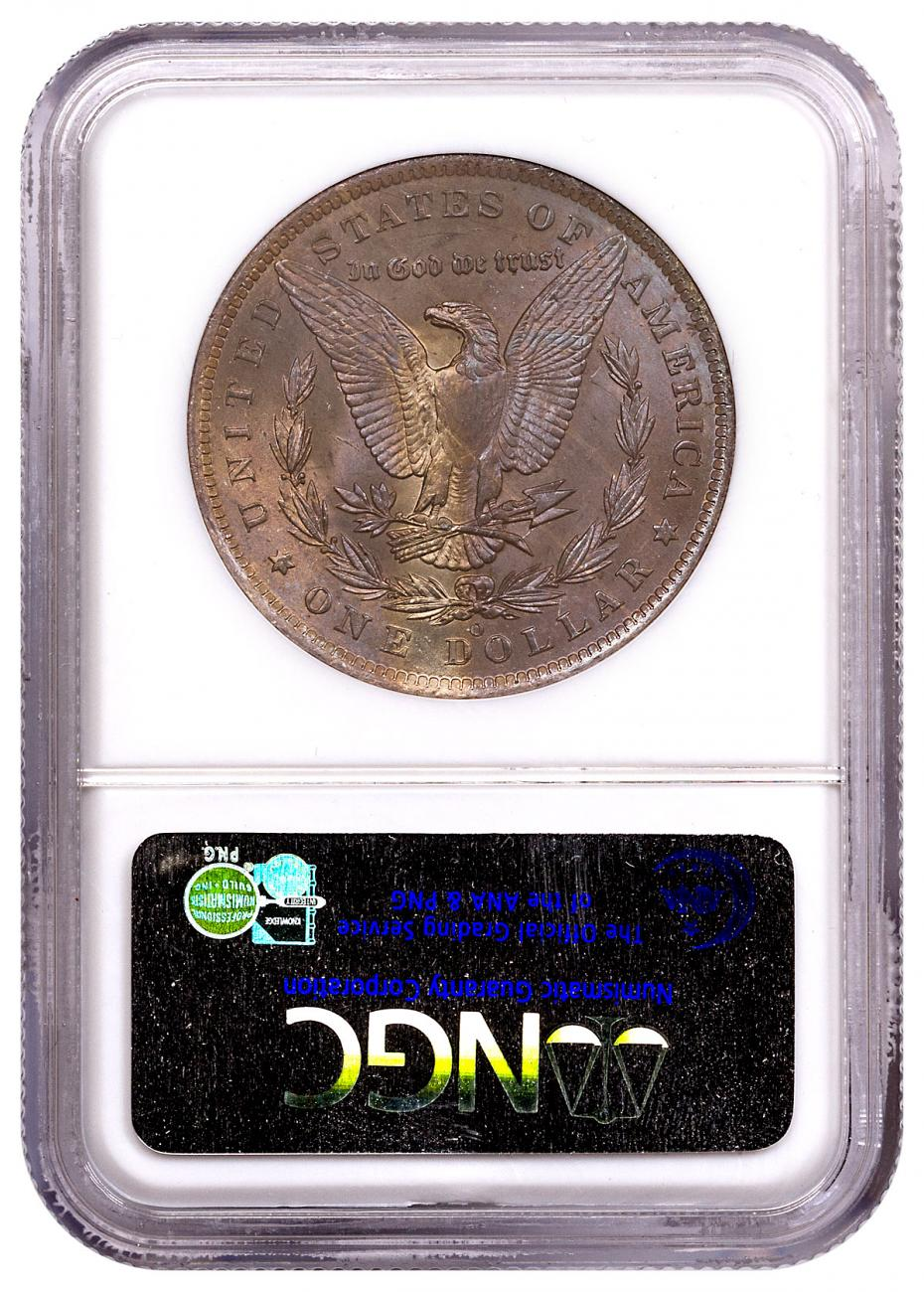 1885-O Morgan Silver Dollar From the Great Montana Collection NGC MS63 Toned CPCR 4120