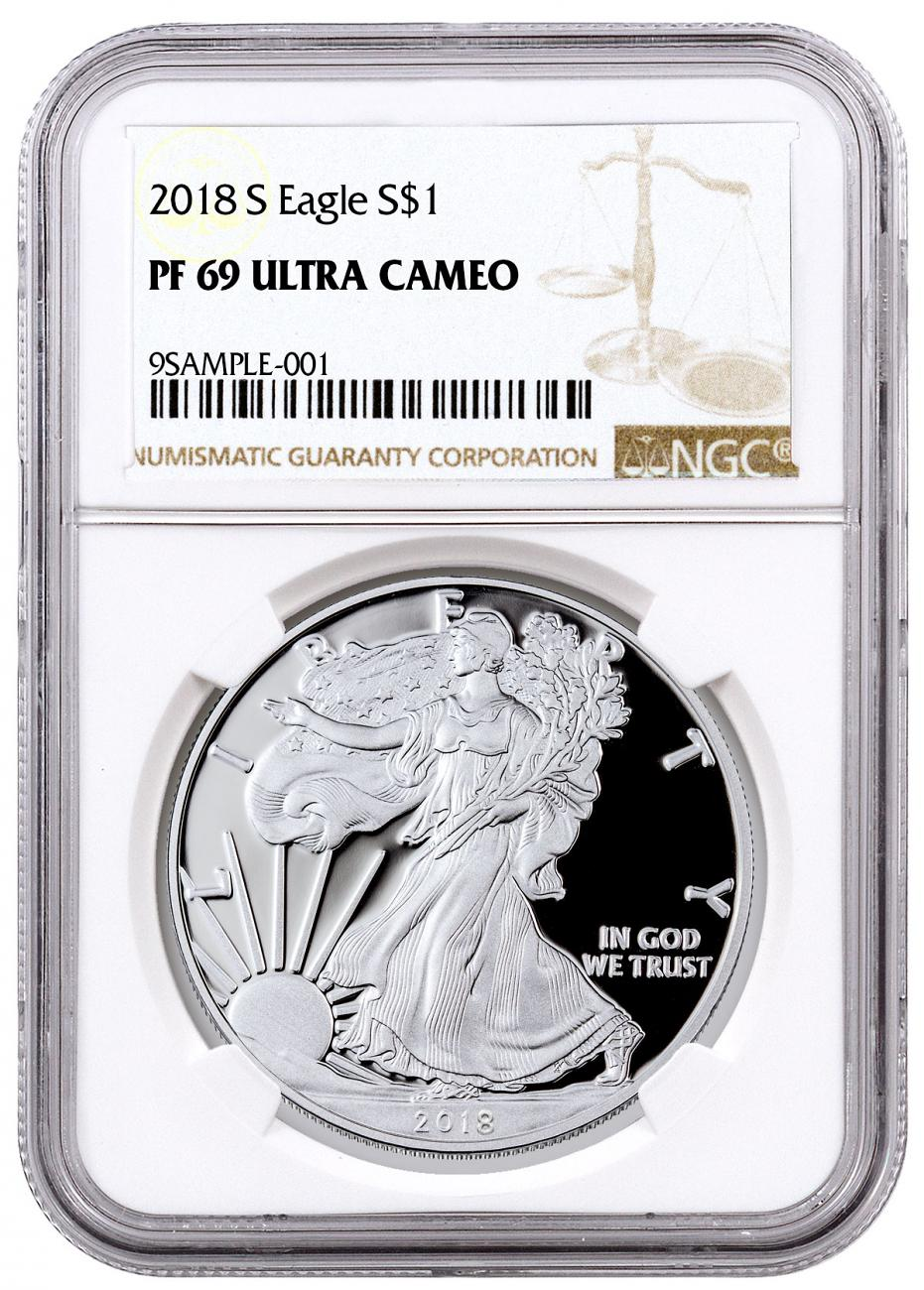 2018-S Proof American Silver Eagle NGC PF69 UC