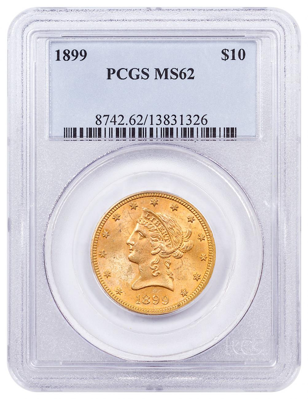 1899 Liberty Head $10 Gold Eagle PCGS MS62