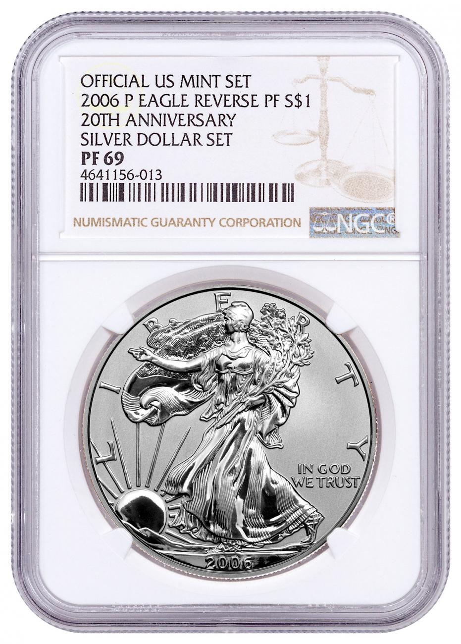 2006-P Reverse Proof Silver Eagle NGC PF69